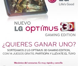 LG sortea dos Optimus 3D Gaming Edition
